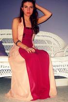 pink BCBG dress - black Forever 21 bracelet