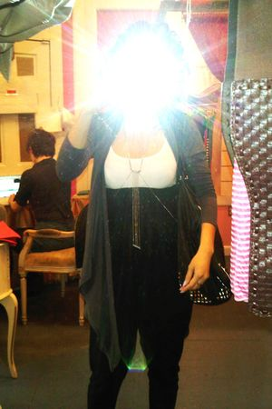 Forever 21 cardigan - H&amp;M top - American Apparel pants - armor jewelry accessori