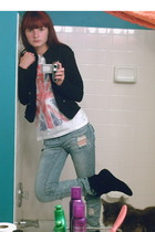 jacket - Forever 21 shirt - delias jeans - steeve madden boots