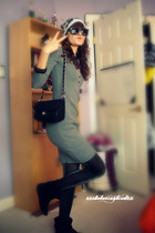 gray Victorias Secret dress - black American Eagle tights - black Steve Madden b