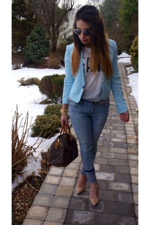 light blue blazer Forever 21 blazer