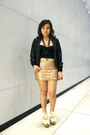 Black-leather-jacket-light-pink-sequined-forever-21-skirt-black-corset-top