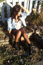 Reflections-boots-acid-wash-forever-21-shirt-h-m-top