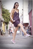 pink Superga sneakers - purple Urban Outfitters romper