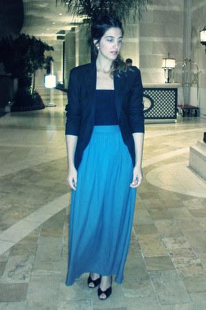 turquoise blue maxi skirt skirt