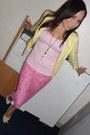 Forever-21-blazer-express-necklace-cami-forever-21-top-river-island-skirt