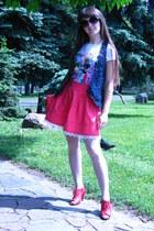handmade skirt - denim Bershka vest