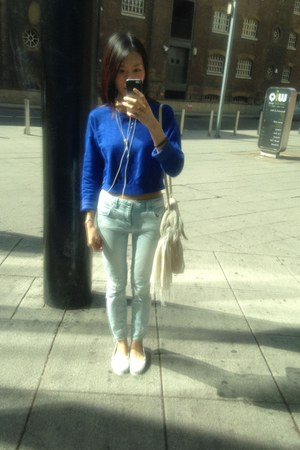 blue Topshop top - light blue Zara jeans