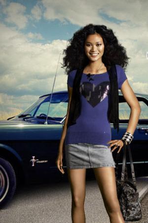 black Robedjer vest - black Tatty Devine necklace - gray Monki skirt - blue H&M