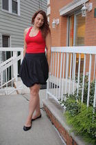 red Victorias Secret shirt - black Eryn Brinie skirt
