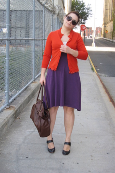 Jcrew sweater - American Apparel dress - Frye shoes
