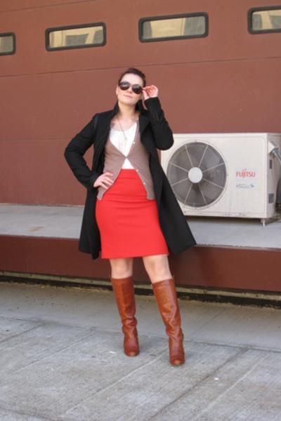 Zara coat - Jcrew skirt - Zara sweater - Frye shoes