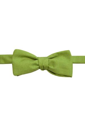 chartreuse cotton bow tie Equeglitz tie