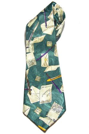 turquoise blue Ganni tie