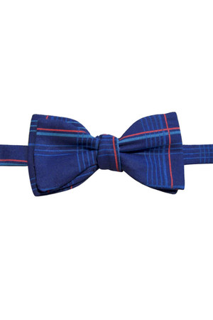 blue cotton bow tie Equeglitz tie
