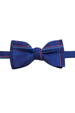 blue cotton bow tie Equeglitz tie