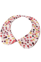 Detachable peter pan collar necklace, cream / beige romantic pebble print