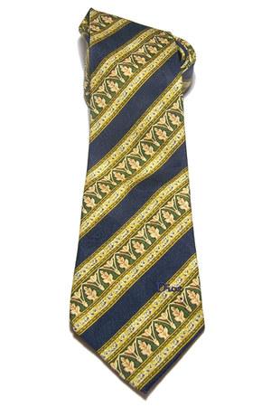 navy vintage silk christian dior tie