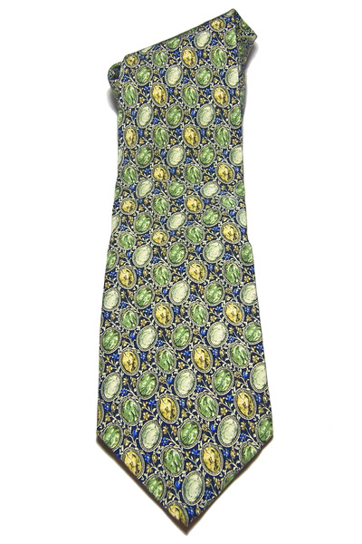 chartreuse vintage silk Valentino tie