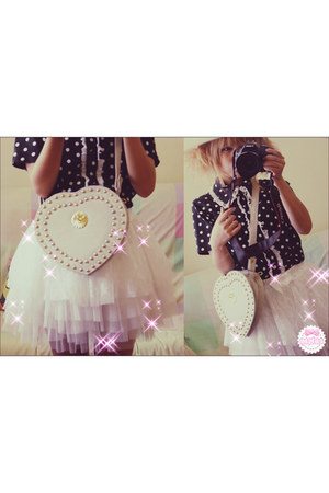 camel Yhansy hat - white studded bag Bazaar bag - white tutu YRYS skirt - black