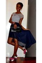 shoes - purse - skirt