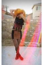 f21 skirt - f21 top