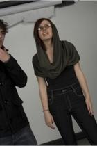 handmade scarf - danskin top - Cheap Monday jeans - brandless shoes