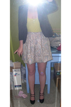 blazer - t-shirt - skirt - shoes