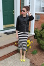 T-shirt-h-m-shirt-t-shirt-h-m-skirt-faux-leather-forever-21-vest