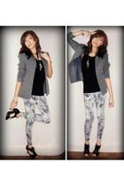 gray Vintage from my mom blazer - black Gap top - gray Never Been Kissed legging