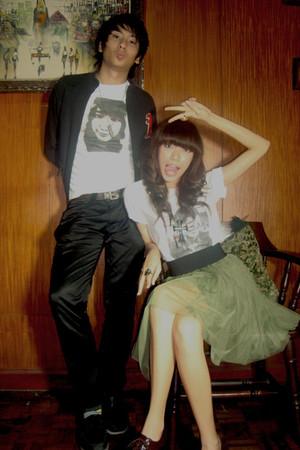 white GraySkirtGray shirt - olive green Forever 21 skirt - black Camille Librojo