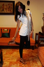 White-mossimo-top-beige-accessories-black-encore-leggings-beige-urge-shoes