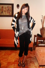 Black-thrifted-jacket-silver-thrifted-shirt-black-pants-black-d-g-accessor