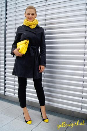 DIY bag - sportmax coat - Zara jeans - H&M scarf - DIY heels