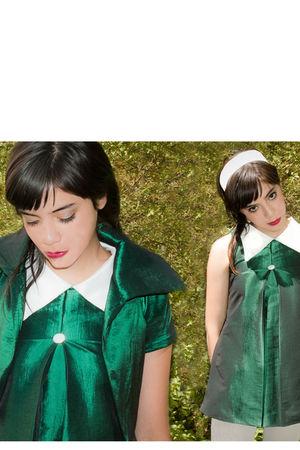 green handmade blazer - green handmade dress