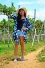 Blue-kimono-revolution-nine-cardigan-black-top