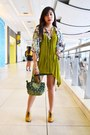 Green-genevieve-gozum-bag-mustard-lace-up-booties-forever-21-shoes