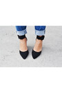 Blue-denim-forever-21-pants-black-primadonna-heels-white-stradivarius-top