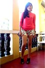 Floral-shorts-just-chic-shorts-lace-top-forever-21-blouse