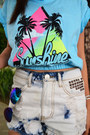 White-people-are-people-shorts-blue-forever-21-sunglasses