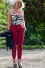 Black-c-a-jacket-ruby-red-camaieu-pants-black-fleqpl-heels