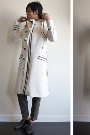 white I MADE IT coat - heather gray I MADE IT pants