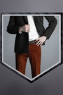Black-duly-equipped-suit-white-shirt-brick-red-pants