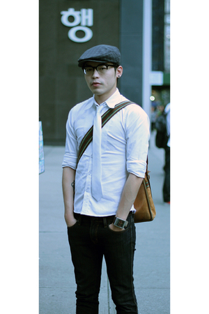 I made it shirt - tie - BJ collection jp glasses - hat - BDG jeans - Cole Haan s
