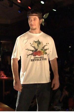 white Yeoman Organics t-shirt