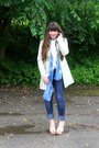 Pink-floral-diva-lounge-wedges-aquamarine-floral-tapestry-vintage-coat