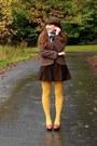Plaid-thrifted-scarf-herringbone-vintage-blazer-hue-tights