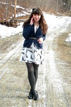 black mary janes Payless shoes - white modcloth dress - charcoal gray simply ver