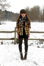 Dark-brown-cheerio-seychelles-boots-black-tjmaxx-dress