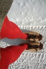 Brown-italian-bowling-vintage-shoes-heather-gray-goodwill-dress-red-hue-tigh